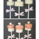Pops de Marshmallow de Casamento!