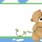 Ursinho com a Pipa – Kit Completo com molduras para convites, rótulos para guloseimas, lembrancinhas e imagens!