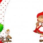 Chapeuzinho Vermelho – Kit Completo com molduras para convites, rótulos para guloseimas, lembrancinhas e imagens!