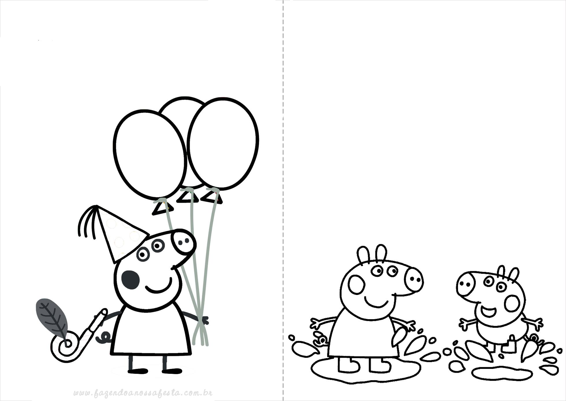 Peppa Pig Livrinho Para Colorir