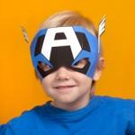 Molde Máscara do Capitão América!