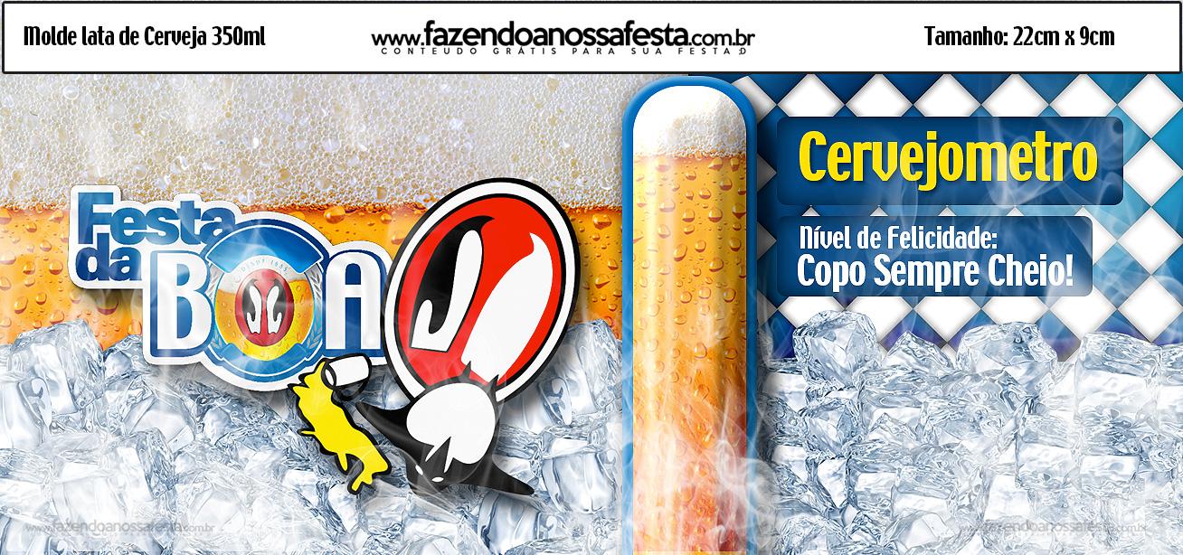 Molde Lata de Cerveja 350ml Festa Kit Antarticaa