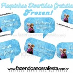Plaquinhas Divertidas para Fotos – Frozen!