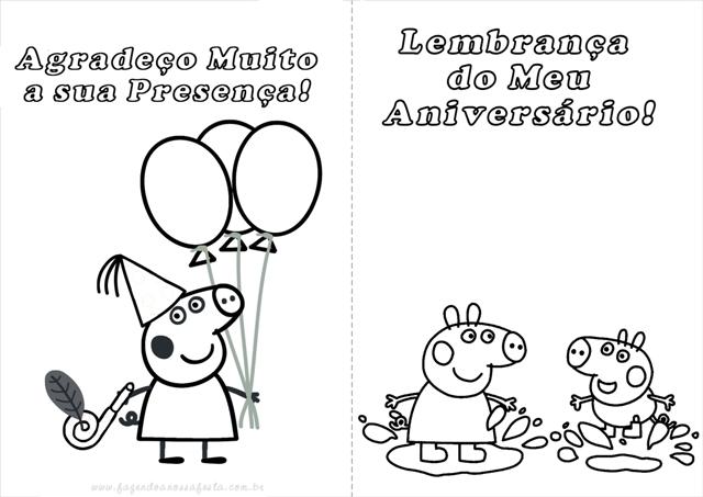 Livrinho Para Colorir Peppa Pig Fazendo A Nossa Festa