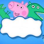 George Pig e Dinossauro – Kit Completo Digital com molduras para convites, rótulos para guloseimas, lembrancinhas e imagens!