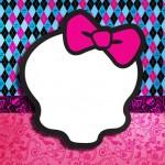 Fundo Monster High Rosa –  Kit Completo Digital com molduras para convites, rótulos para guloseimas, lembrancinhas e imagens!