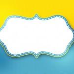 Poá Amarelo e Azul – Kit Completo Digital com molduras para convites, rótulos para guloseimas, lembrancinhas e imagens!