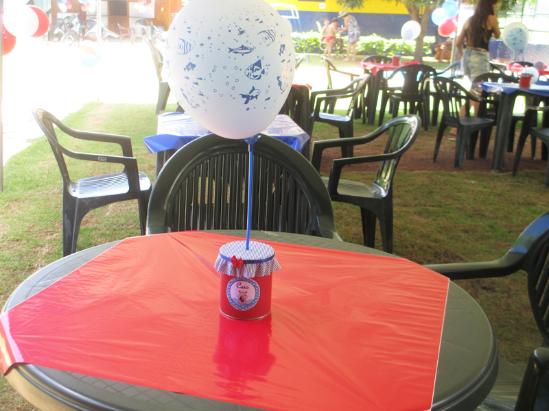 centro de mesa no tema da festa ursinho car interior design