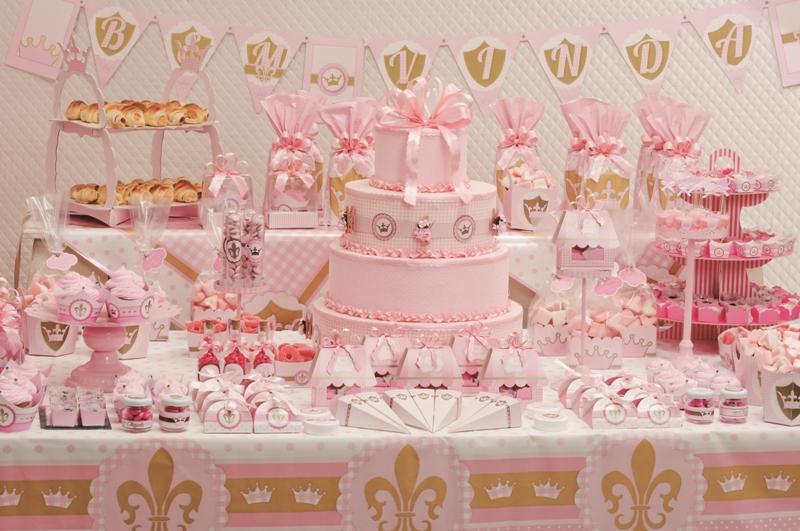 Ideias para Chá de Bebê Coroa de Princesa!