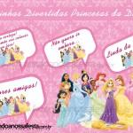 Plaquinhas Divertidas para Fotos Princesas da Disney!
