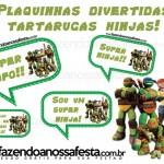 Plaquinhas Divertidas das Tartarugas Ninjas!