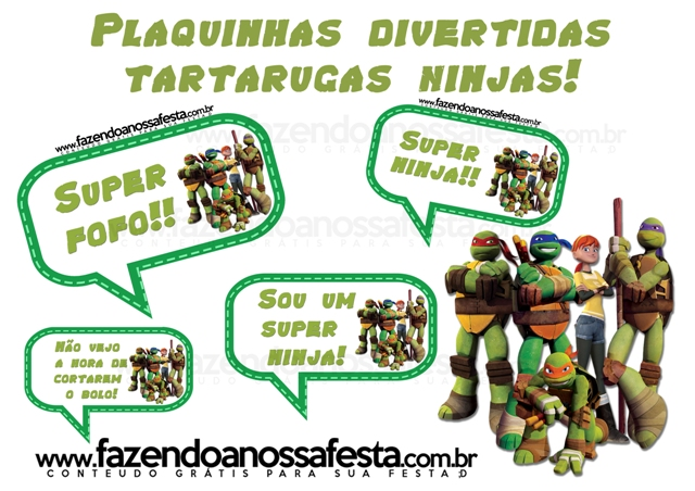 Well-known Plaquinhas Divertidas das Tartarugas Ninjas! EL23