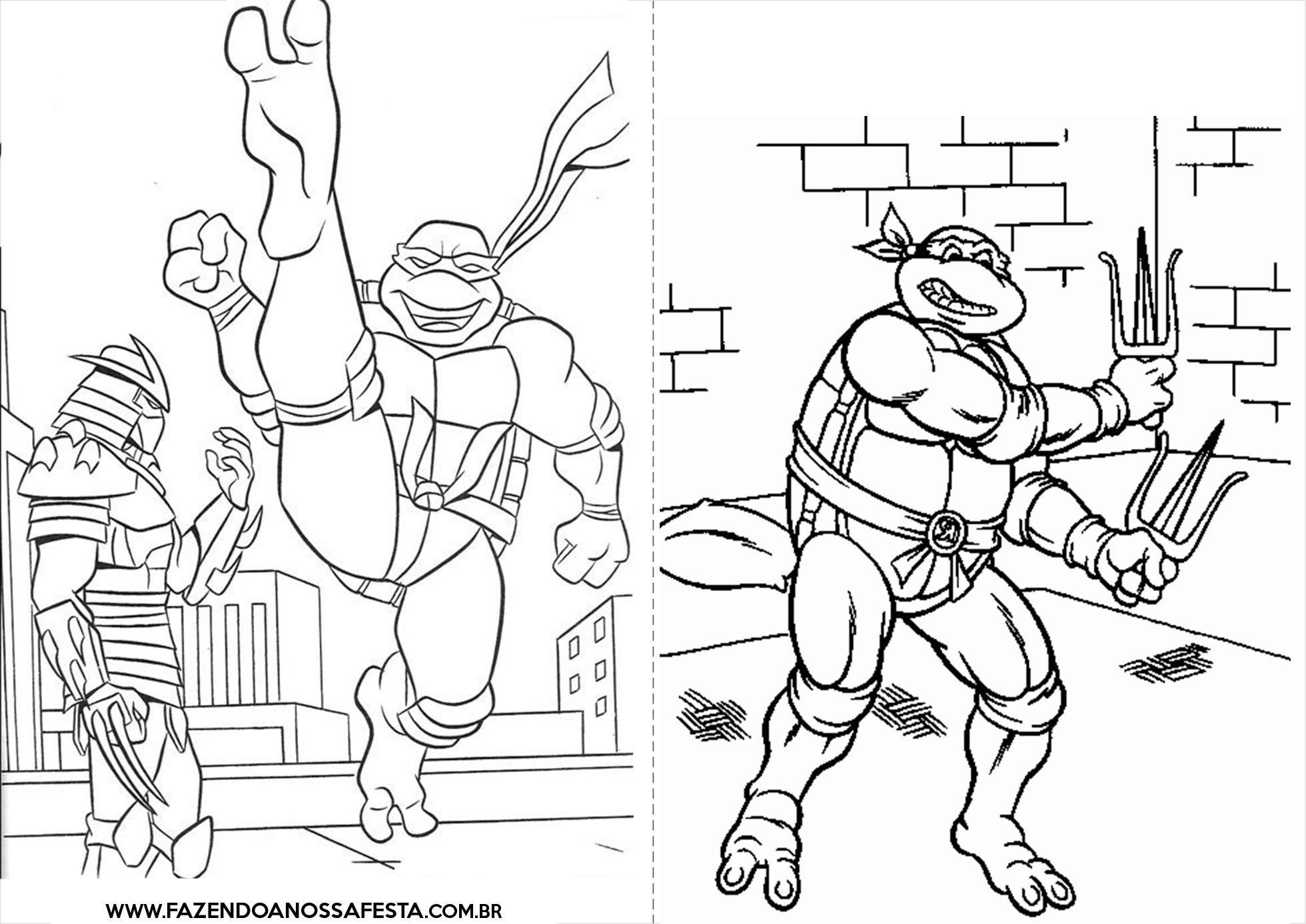Fresco Desenhos Para Colorir E Imprimir Das Tartarugas Ninjas
