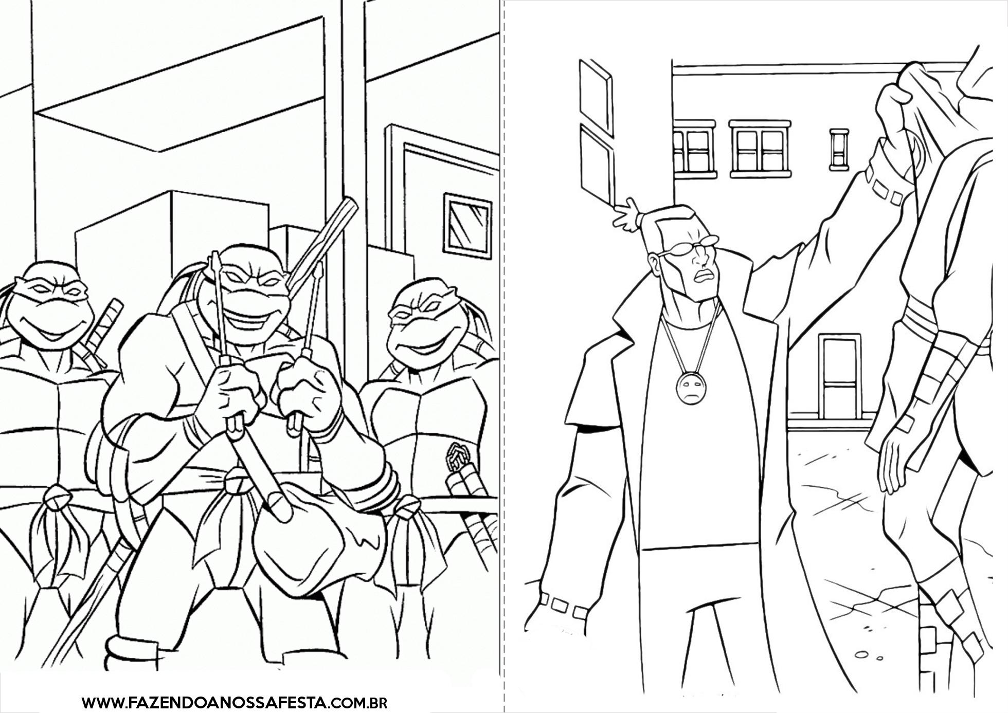 Livrinho De Colorir Tartarugas Ninjas