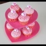 Suporte para Docinhos e Cupcakes de Coração!