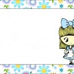 Alice no País das Maravilhas Menina – Kit Completo com molduras para convites, rótulos para guloseimas, lembrancinhas e imagens!