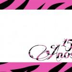 15 Anos Pink e Preto – Kit Completo com molduras para convites, rótulos para guloseimas, lembrancinhas e imagens!