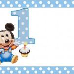 Mickey Baby Azul Poá – Kit Completo com molduras para convites, rótulos para guloseimas, lembrancinhas e imagens!