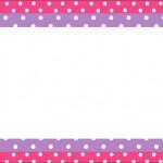 Poá Rosa e Lilás – Kit Completo com molduras para convites, rótulos para guloseimas, lembrancinhas e imagens!
