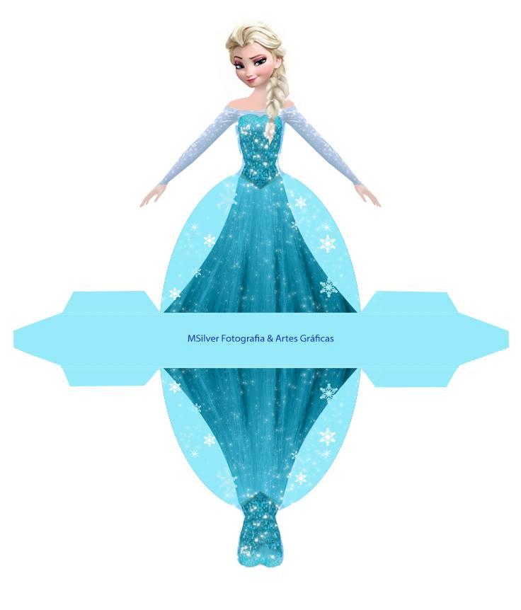 Caixa Vestido Frozen (Elza)