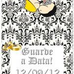 Molde de Pirulito Guarde a Data de Casamento!