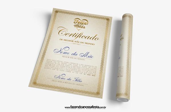 Exemplo de Certificado.