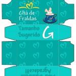 Convite Caixa Pampers para Chá de Fraldas!