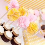 Toppers para Cupcakes de Pompom de Tecido