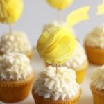 Topper para Cupcakes com Pom Pom de Papel!