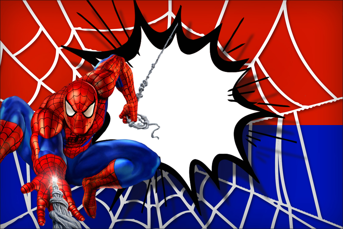 Free Spiderman Birthday Invitations with awesome invitation layout