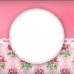 Floral Rosa Provençal – Kit Completo Digital com molduras para convites, rótulos para guloseimas, lembrancinhas e imagens!