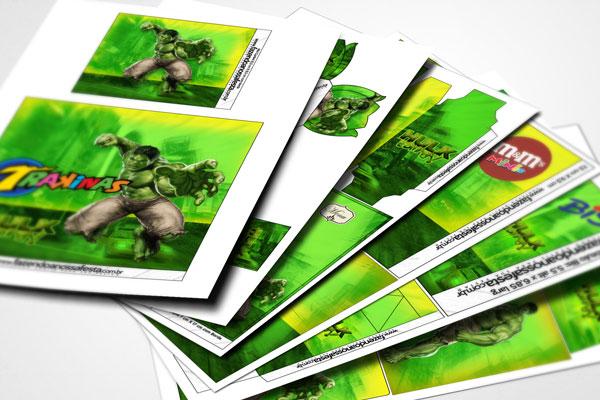Tema de festa do Hulk para  imprimir em casa!