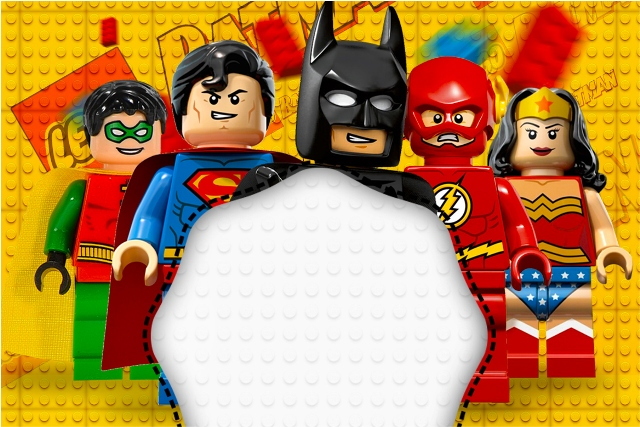 Kit Completo Digital Batman Lego Super Heroes