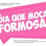 Plaquinha Divertida Festa Junina Moça Formosa