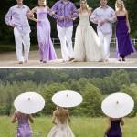 Casamento em Branco e Roxo!