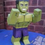Hulk – Boneco 3D para Recortar e Montar!