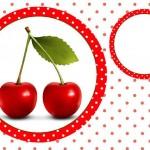 Cereja Vermelha – Kit Completo com molduras para convites, rótulos para guloseimas, lembrancinhas e imagens!