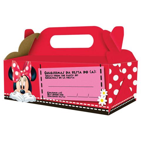 Caixa Viagem Festabox Minnie Vermelha