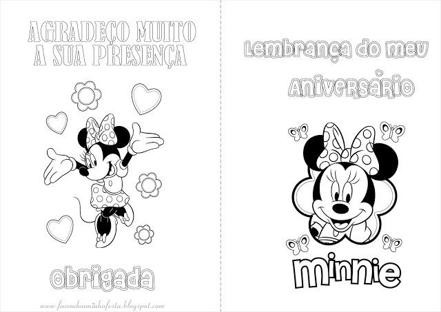 Minnie Livrinho Para Colorir