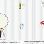 Moldes Decorados de Cardápios para Casamento e Noivado!