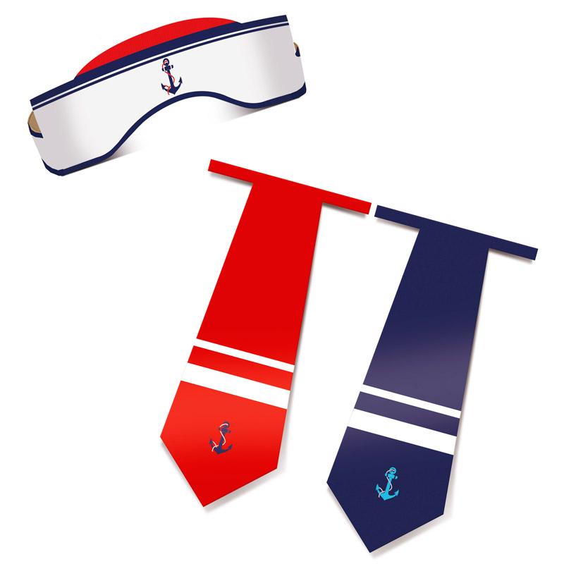 Chápeu e gravata de Marinheiro: