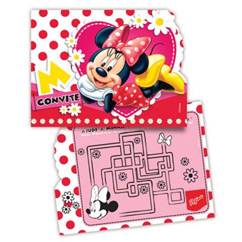 Convite Minnie Vermelha Festabox