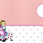 Alice no País das Maravilhas Boneca – Kit Completo com molduras para convites, rótulos para guloseimas, lembrancinhas e imagens!