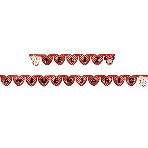 Bandeirinhas Minnie Vermelha Festabox