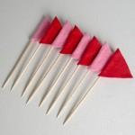 Bandeirinhas Toppers para Cupcakes feitas de Feltro!