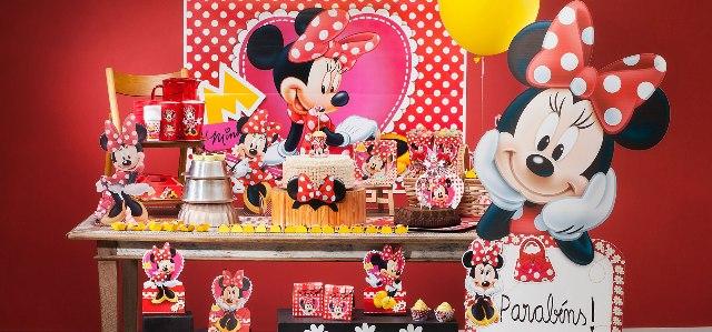 Decoração Minnie Vermelha com Produtos Festa Box: