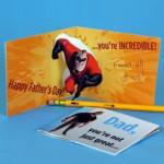 Cartão Pop Up Sr. Incrível para Dia dos Pais!