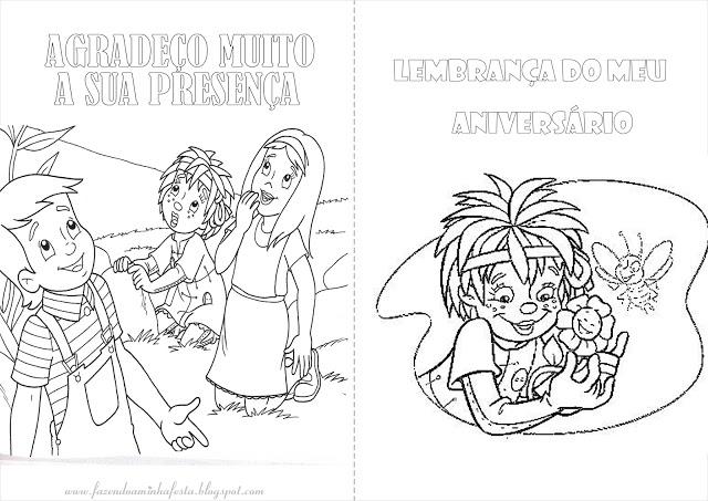 Sitio Do Picapau Amarelo Livrinho Para Colorir