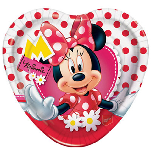 Prato Coração Minnie Vermelha Festabox