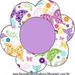 Moldes Decorados e Molde Limpo de Flor Topper para Cupcakes!